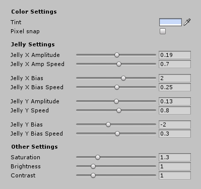 #NVJOB 2D Set (Jelly Sprite and Pixelation Shaders). Free Unity Asset.